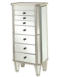 Mirrored Jewelry Box Armoire by White Mirrored Jewelry Cabinet Amoire W Stand Armoire Glass Box