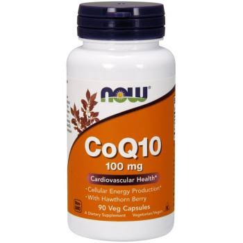 NOW Foods CoQ10 Supplement - with Hawthorn Berry, 90 VCaps