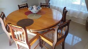 Yellow Wood And Imbuia Dining Room Set For Sale R5000 Neg