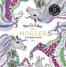 Amazon Vive Le Color Horses Adult Coloring Book In De Stress 72 Tear Out Pages 9781419724374 Abrams Noterie Books