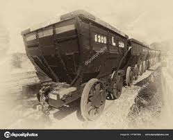 100 Railroad Trucks Old Railway Carrying Stone Quarry Mine Stock Photo