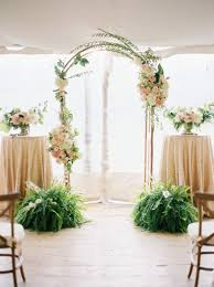 Proof Rain On Your Wedding Day Leads To Pretty Things Ceremony ArchIndoor