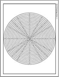 Free Geometric Coloring Pages In Pdf Bbq Grill Or Labyrinth