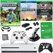 Minecraft Bedding Walmart by Xbox One S 500gb Minecraft Bundle With 8 In 1 Kit Walmart Com