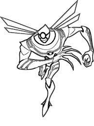 Ben 10 Nanomech From Ultimate Alien Coloring Page
