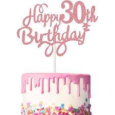 3 stück 30 geburtstag kuchen topper happy 30th birthday kuchen cupcake topper picks glitzer kuchen dekoration für 30 geburtstag lieferung