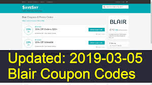 Blair Coupon Codes: 3 Valid Coupons Today (Updated: 2019-03 ... Green Beret Blair Amazoncom Witch Standard Edition Xbox One Digital Beach House High Neck Tankini Top East Point Stripe Coupon Code 30 Pinkberry 2018 Enjoy Your Purchase With Codes At Urban Hydration Storypal Coupon Discount Code 63 Off Promo Deal 20 Free Shipping Codes For September Ldon Pass Promo June 2019 Cavenderscom Apparel Accsories Online Deals