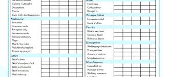 Wedding Budget Spreadsheet Planning Template Excel