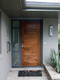 Stunning Natural Brown Single Modern Front Door With Nickel Knob ... Modern Front Doors Pristine Red Door As Surprising Best Modern Door Designs Interior Exterior Enchanting Design For Trendy House Front Design Latest House Entrance Main Doors Images Of Wooden Home Designs For Sale Reno 2017 Wooden Choice Image Ideas Wholhildprojectorg