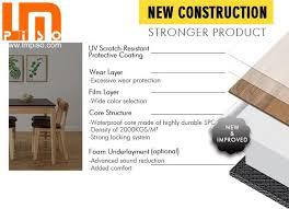 Germany Standard Residencial Vinyl Rigid Core SPC Plastic FlooringSPC Plank