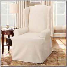 Grey Wingback Chair Slipcovers by Wing Chair Slipcover With Separate Cushion Cover Chairs Home