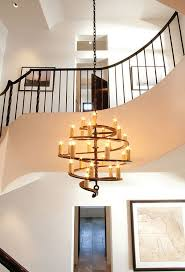 Rustic Modern Chandelier Height Ceiling Circular Font Lighting