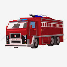 100 Red Fire Trucks Commercially Available Oblique Side Are