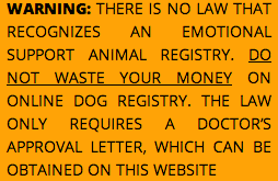 line Emotional Support Animal Letters
