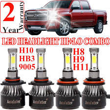 100 Chevy Truck Parts Catalog Free Amazoncom 9005 H11 LED Headlight High BeamLow Beam Combo Set For