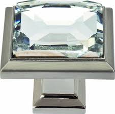 Square Nickel Cabinet Knobs by Atlas Homewares 340 Ch Legacy Crystal Polished Chrome 1 3 Inch
