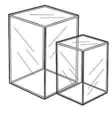 5 Sided Tall Acrylic Doll Display Box Available In 4 Sizes