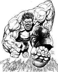 In Cradible Halk Coloring Pages