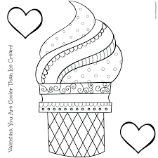 Ice Cream Coloring Pages Kids Childrens Christian Valentine Images Pictures Preschool Full Size