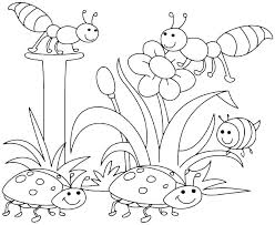 Unique Free Printable Spring Coloring Pages For Color Sheets Also