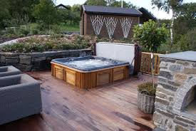 Arctic-spas-hot-tub-sunk-in-deck-garden - Arctic Spas Hot Tub On Deck Ideas Best Uerground And L Shaped Support Backyard Design Privacy Deck Pergola Now I Just Need Someone To Bulid It For Me 63 Secrets Of Pro Installers Designers How Install A Howtos Diy Excellent With On Bedroom Decks With Tubs The Outstanding Home Homesfeed Hot Tub Pool Patios Pinterest 25 Small Pool Ideas Pools Bathroom Back Yard Wooden Curved Bench