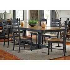 Liberty Furniture Springfield II Dining 7 Piece Double Pedestal Table Chair Set