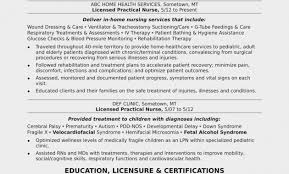 Pacu Nurse Resume Unique Licensed Practical Sample