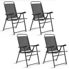 Costway: Costway Set Of 4 Folding Sling Chairs Patio Furniture ... Buy Outdoor Patio Fniture New Alinum Gray Frosted Glass 7piece Sunshine Lounge Dot Limited Scarsdale Sling Ding Chair Sl120 Darlee Monterey Swivel Rocker Wicker Sets Rattan Chairs Belle Escape Livingroom Hampton Bay Beville Piece Padded Agio Majorca With Inserted Woven Shop Havenside Home Plymouth 4piece Inoutdoor Nebraska Mart Replacement Material Chaircarepatio Slings