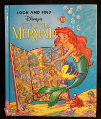 The Little Mermaid Disney Look And Find 1993 Large Hardback Book