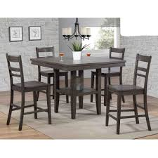 East Lane 5 Piece Pub Set (Pub Table With 4 Stools) - Bernie ...