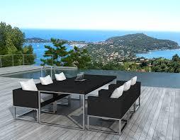 canapé de jardin design salon de jardin design 1 table 6 fauteuils