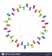 light bulb garland circle design isolated on white