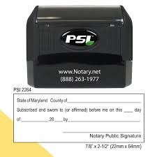86 Notary Stamp Maryland Self Inking Maryland Notary Stamp Name