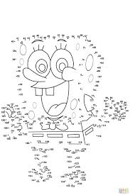 Free Spongebob Colouring Pictures Dot Printouts Printable Coloring Pages Draw Squarepants Printables