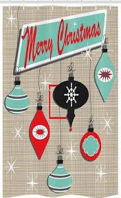 abakuhaus duschvorhang badezimmer deko set aus stoff mit haken breite 120 cm höhe 180 cm weihnachten retro noel slogan kaufen otto