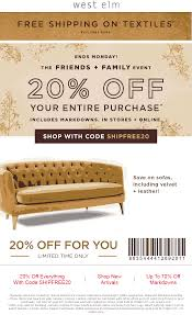 Westelm Promo Codes : Active Wholesale Ebay 15 Off Coupon Code September 2019 Trees And Trends Store Coupons Best Tv Deals Under 1000 Decor Great Home Accsories And At West Elm 20 Pottery Barn Kids Onlein Stores Exp 52419 10 Ebay Shopping Through Modsy Everything You Need To Know Leesa Hybrid Mattress Coupon Promo Code Updated Facebook Provident Metals Promo Coupons At Or Online Via West Elm Entire Purchase Fast In Rejuvenation Free Shipping Seeds Man Pottery Barn Williams Sonoma