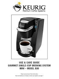 Keurig Coffee Machine B30 MINI Use Care Guide