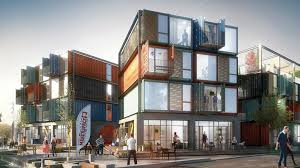 100 Containers Turned Into Homes Striking Apartment Complex Is Made Of 48 Raw Shipping Containers
