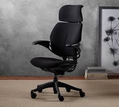 humanscale freedom task chair with headrest pottery barn