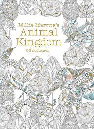 Amazon Millie Marottas Animal Kingdom Postcard Box 50 Postcards A Marotta Adult Coloring Book 9781454709282 Books
