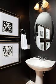 Powder Room Paint Ideas Traditional With Round Mirror Small Bathroom Framed Art