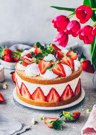 vegane erdbeer käsesahne torte