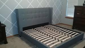 baxton studio hirst tufted platform bed