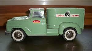 VINTAGE TONKA FARMS Pickup Step Side Truck Green Pressed Steel Toy ...
