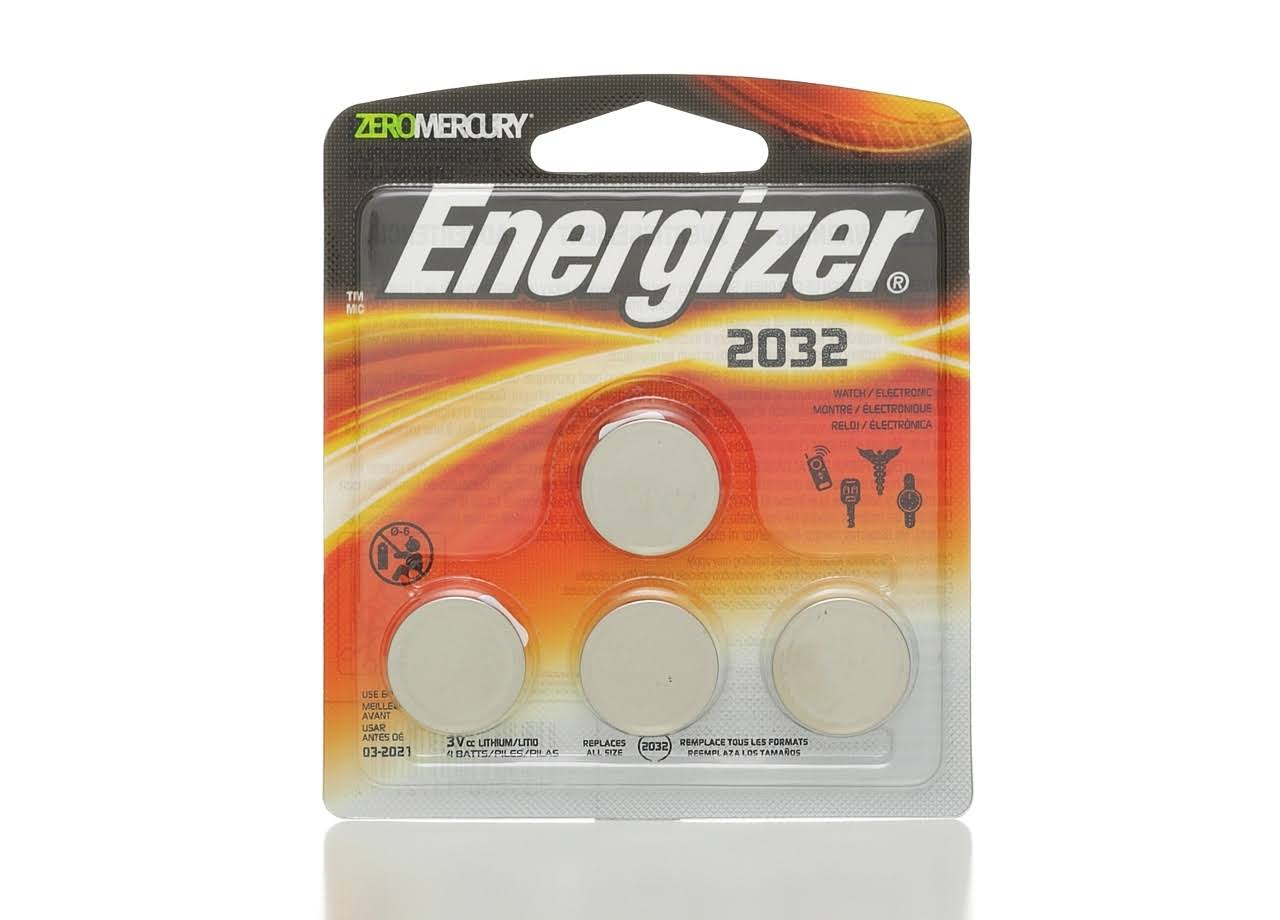 Energizer Zero Mercury Lithium Battery - 4 Pack, 3V