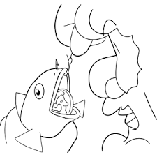 Peter Finds Shekel In Fish Mouth Coloring Page