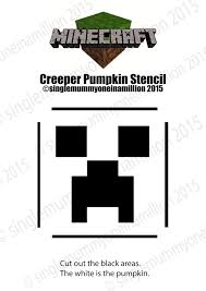Mummy Pumpkin Carving Patterns Free by Single Mummy One In A Million Creeper Minecraft Pumpkin Stencil