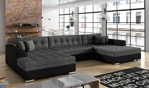 ecksofa sofa polster wohnlandschaft u form bettfunktion textil stoff big