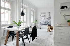 A Big Bright Room With An Open Space Is One Of The Elements That Define Most Scandinavian Dining In This Catchy Piece