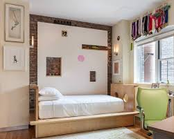 Exposed Brick Wall Design In Kids Bedroom